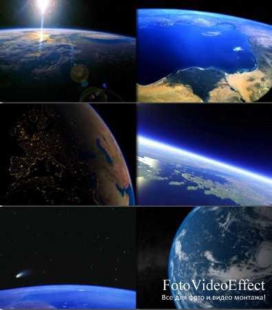 Земля, взгляд из Космоса. Обои.