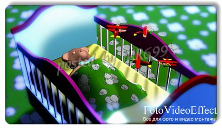 Baby footages:  Bear in crib