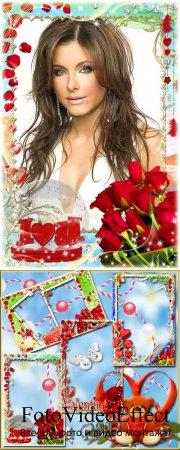 Набор романтических рамочек ко Дню Влюбленных
