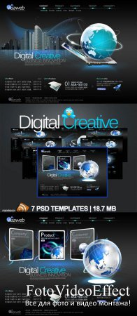 Digital Creative PSD Templates Nr.56
