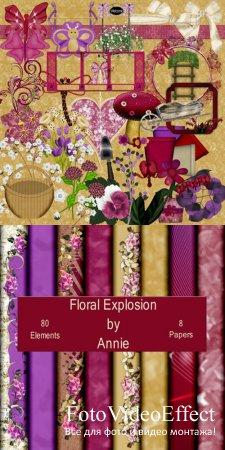 Scrap-set - Floral Explosion
