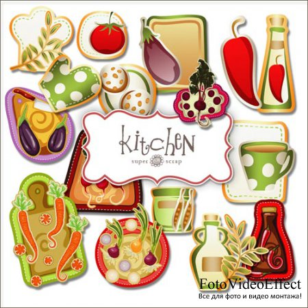 Scrap-kit - Kitchen Set