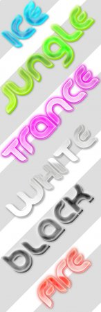 3D Vibrant Text Styles