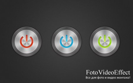 On-Off PSD Buttons