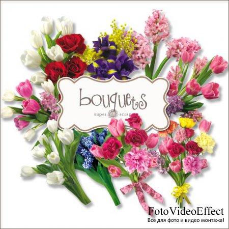 Скрап-набор - Букеты Цветов #3