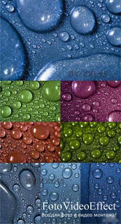 Stock photo - Colored drops