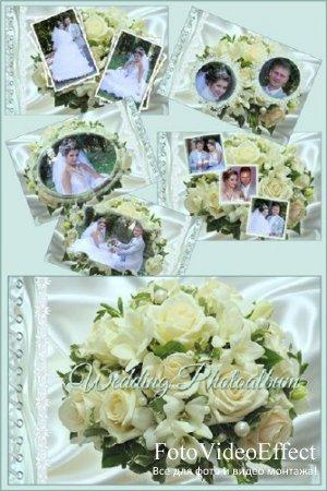 Рамки для фотошопа - Свадебный альбом с розами