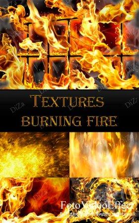 Textures burning fire