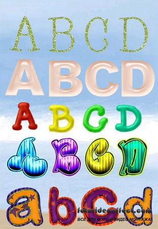 Set of alphabets