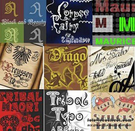 Коллекция из 220 лучших шрифтов