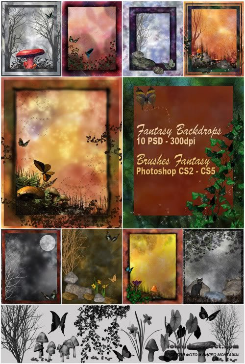 Кисти для photoshop ангелочки 21 brushes 1 abr 6,16 mb