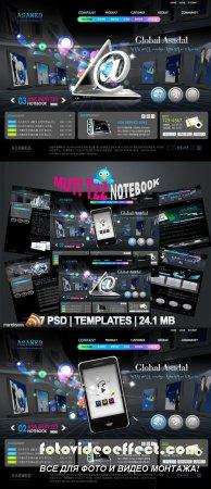 Muti T22 Notebook Templates PSD Nr.158