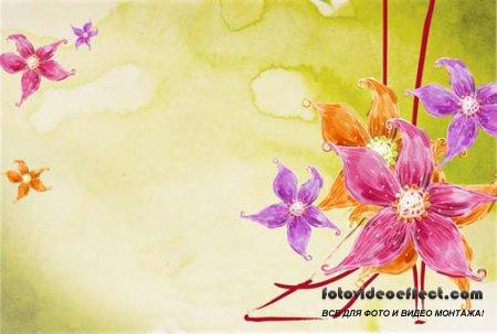 PSD Flowers Art