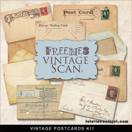 Scrap-kit - Old Vintage Cards #2