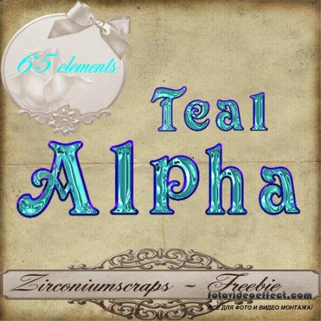 Scrap-kit - Teal Alpha