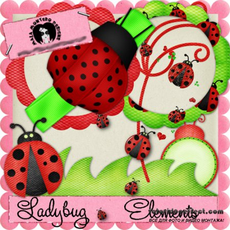 Scrap-set - Lady Bug Elements