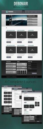 Medialoot Debonair 4-Page Website Template RETAIL