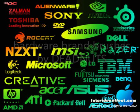 Hardware Brands Brushes for Photoshop