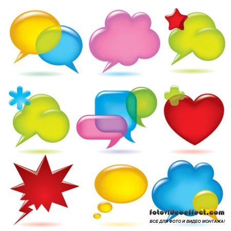 Shutterstock - Speak Bubbles Balloons EPS