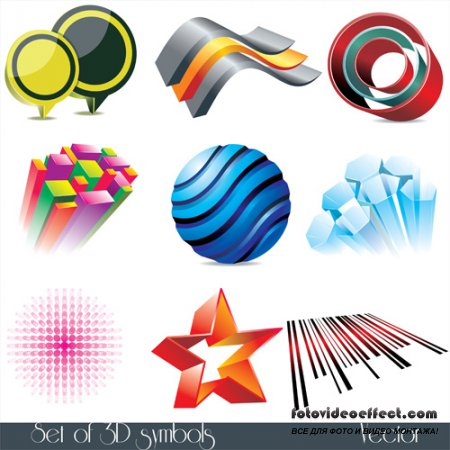 Shutterstock - 3D Symbols-2 EPS