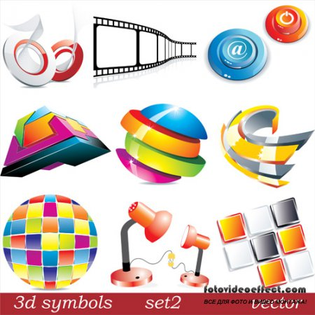 Shutterstock - 3D Symbols 1 EPS