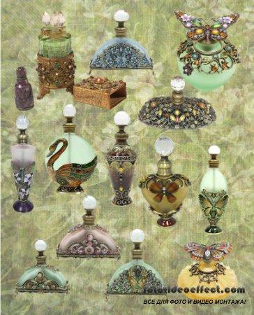 Ароматные бутылки украшенные драгоценными камнями