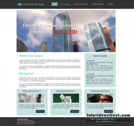 Financial Free Web Site Template
