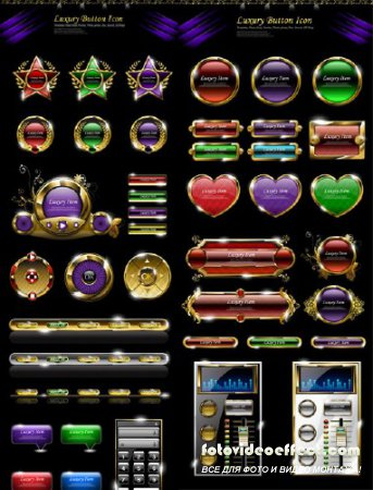 Luxury button icon