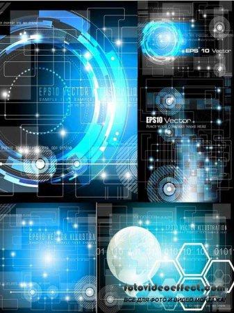 Hi-Tech Vector Backgrounds