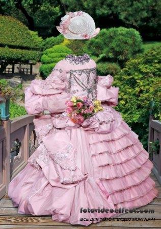Шаблон для фотошоп – Леди в розовом