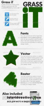 GraphicRiver Grass iT - Photoshop Action