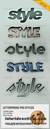 Letterpress Text Pro Styles - GraphicRiver
