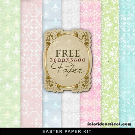 Textures - Vintage Easter Papers #3