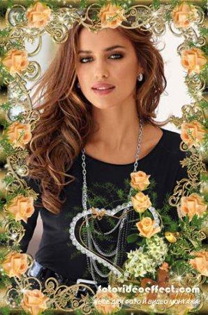 Рамочка  для фото  -  Чайные розы
