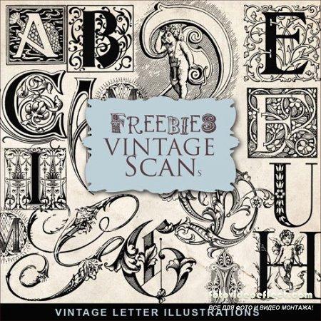 Vintage letter illustrations