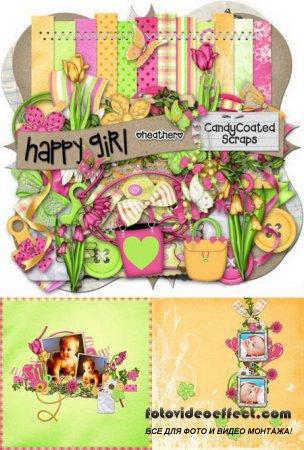 Скрап-набор - Счастливая девочка / Scrap kit - Happy girl
