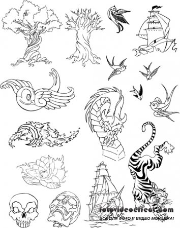 Free Tattoo Vector Set by Ben