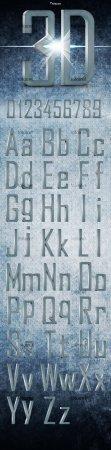 3D Metal Font
