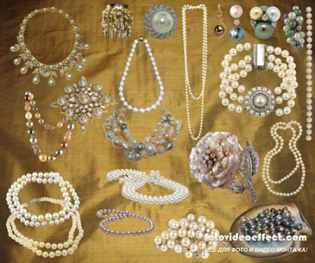 PSD Клипарт - Ювелирные изделия с драгоценными камнями