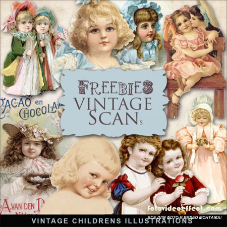 Scrap-kit - Vintage Childrens Illustrations