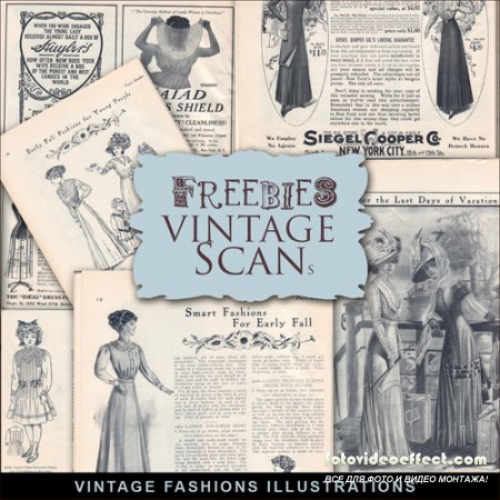 Scrap-kit - Vintage Fashion Illustrations #3