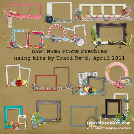 Traci Reed Hawt Mamas April 2011 - Cluster Frames