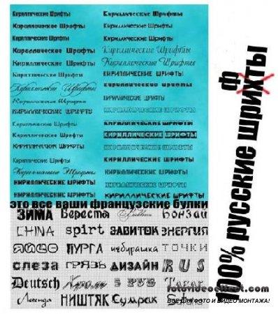 Платиновое издание русских шрифтов