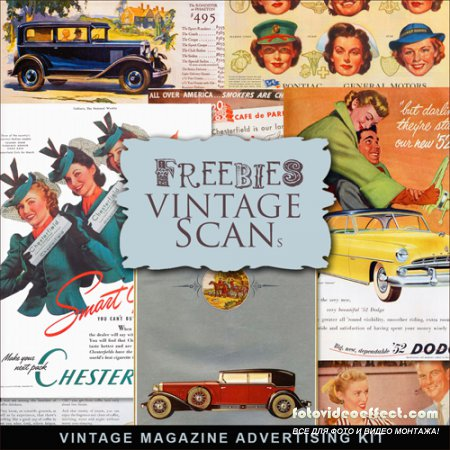 Scrap-kit - Vintage Magazine Advertizing