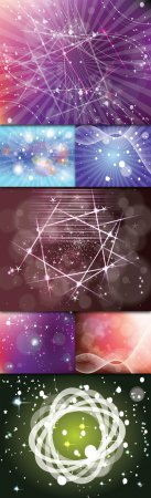 Collections Abstract Colored Vector Backgrounds With Lines, Circles, Stars And Bubbles Vol.1