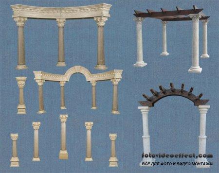 PSD Клипарт - Коринфские колонны