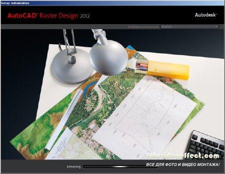 Autodesk AutoCAD Raster Design 2012 x32 x64 (31.05.11 ) Английская версия