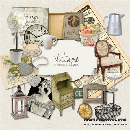 Scrap-kit - Vintage Subjects