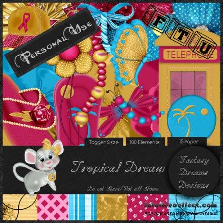 Scrap-set - Tropica Dream