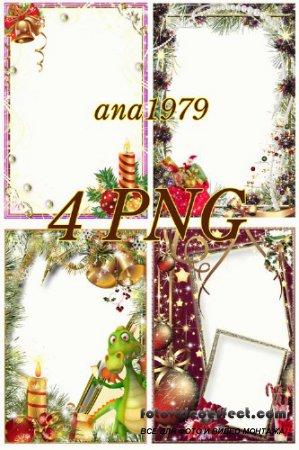 Сборник новогодних рамок в формате PNG – Наш веселый Новый год